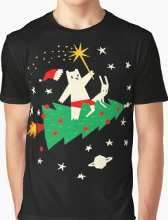Space Christmas Graphic T-Shirt