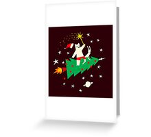 Space Christmas Greeting Card