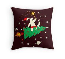 Space Christmas Throw Pillow
