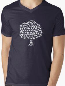 Animal Tree Mens V-Neck T-Shirt
