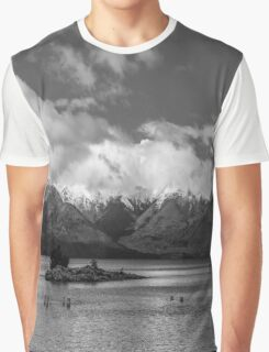 Lake Nahuel Huapi, Patagonia, Argentina (Black & white) Graphic T-Shirt