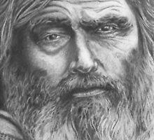 bearded man by Mitchell O'Mahoney
