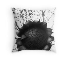 Steel Sunflower Throw Pillow
