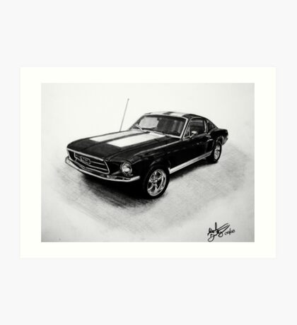 1967 Ford Mustang Fastback Art Print