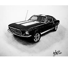 1967 Ford Mustang Fastback Photographic Print