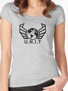 New U.N.I.T (Black) Women's Fitted Scoop T-Shirt