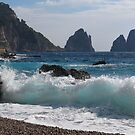 Faraglioni on island Capri by kirilart