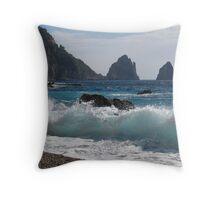 Faraglioni on island Capri Throw Pillow