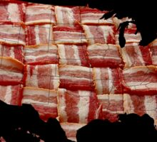 One Nation Under Bacon - USA - American Bacon Map Sticker