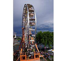 Ferris wheel by the bridge Photographic Print