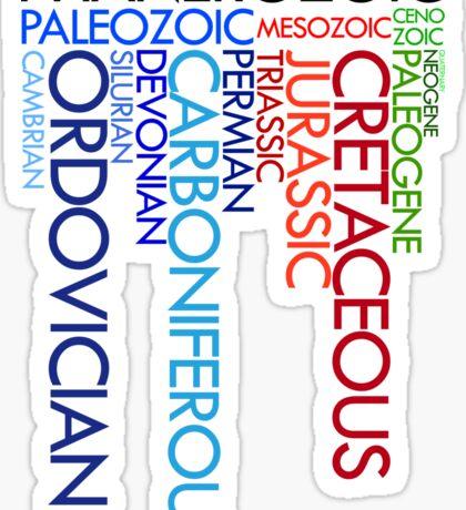 Phanerozoic aeons, eras, ages Sticker