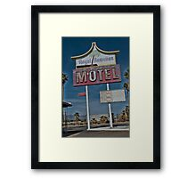 Old & Tired Motel Framed Print