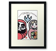 A Cord of Three Strands (Daruma Doll series) Framed Print