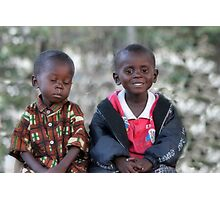 Brothers in need Photographic Print