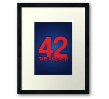 The Answer Framed Print