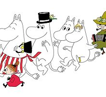 Moomin Family by mrtart