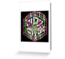 HORNETS BLACK Greeting Card
