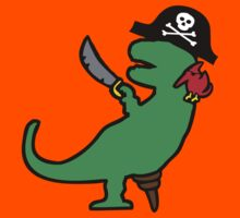 Pirate Dinosaur - T-Rex Kids Tee