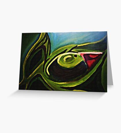 Green Iris Greeting Card