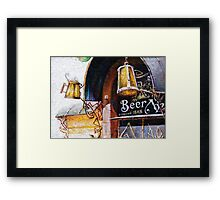 Pub and Beer Framed Print