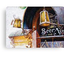 Pub and Beer Canvas Print