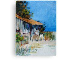 Hut on Wind Canvas Print