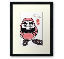 The Snowshoer (Daruma Doll series) Framed Print