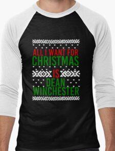 All I Want For Christmas (Dean Winchester) Men's Baseball ¾ T-Shirt