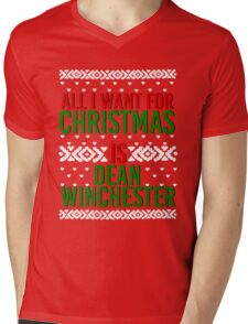 All I Want For Christmas (Dean Winchester) Mens V-Neck T-Shirt