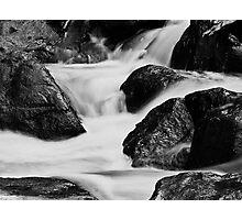 Running water and rocks Photographic Print