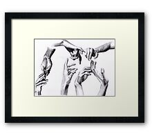 Need a hand? Framed Print