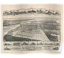 Panoramic Maps Plat environs of Lagoon Heights Cottage City Poster