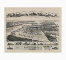 Panoramic Maps Plat environs of Lagoon Heights Cottage City Kids Tee