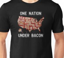 One Nation Under Bacon - USA - American Bacon Map Unisex T-Shirt
