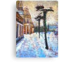 Snow On Palm Trees Canvas Print