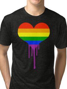 Gay Pride Heart Tri-blend T-Shirt