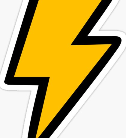 Cartoon Lightning Bolt Sticker