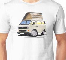 VW T25 / T3 White (Open Pop Top) Unisex T-Shirt
