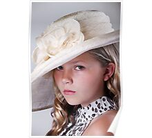 Portrait of beautiful girl in hat Poster