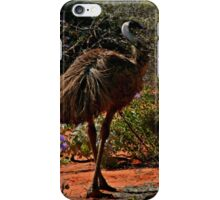 Wild-flowers, sand and Old Man Emu  iPhone Case/Skin