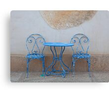 Blue Chairs Canvas Print