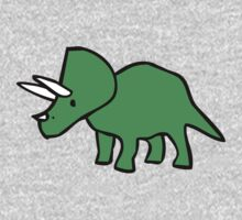 Cute Triceratops One Piece - Long Sleeve