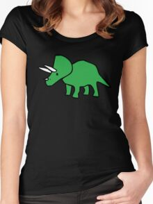 Cute Triceratops Women's Fitted Scoop T-Shirt