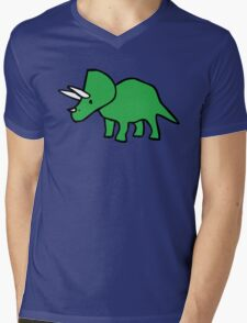 Cute Triceratops Mens V-Neck T-Shirt