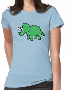 Cute Triceratops Womens Fitted T-Shirt