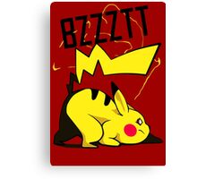 Bzztt Pikachu Electric, Pokemon Anime and Game Canvas Print