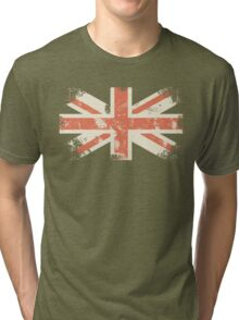 grungy UK flag Tri-blend T-Shirt