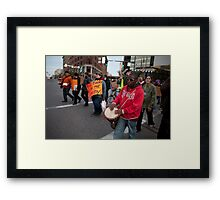 Zombies March Framed Print