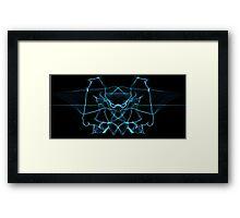 blue on Black Framed Print