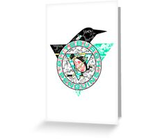 PENGUINS WHITE Greeting Card